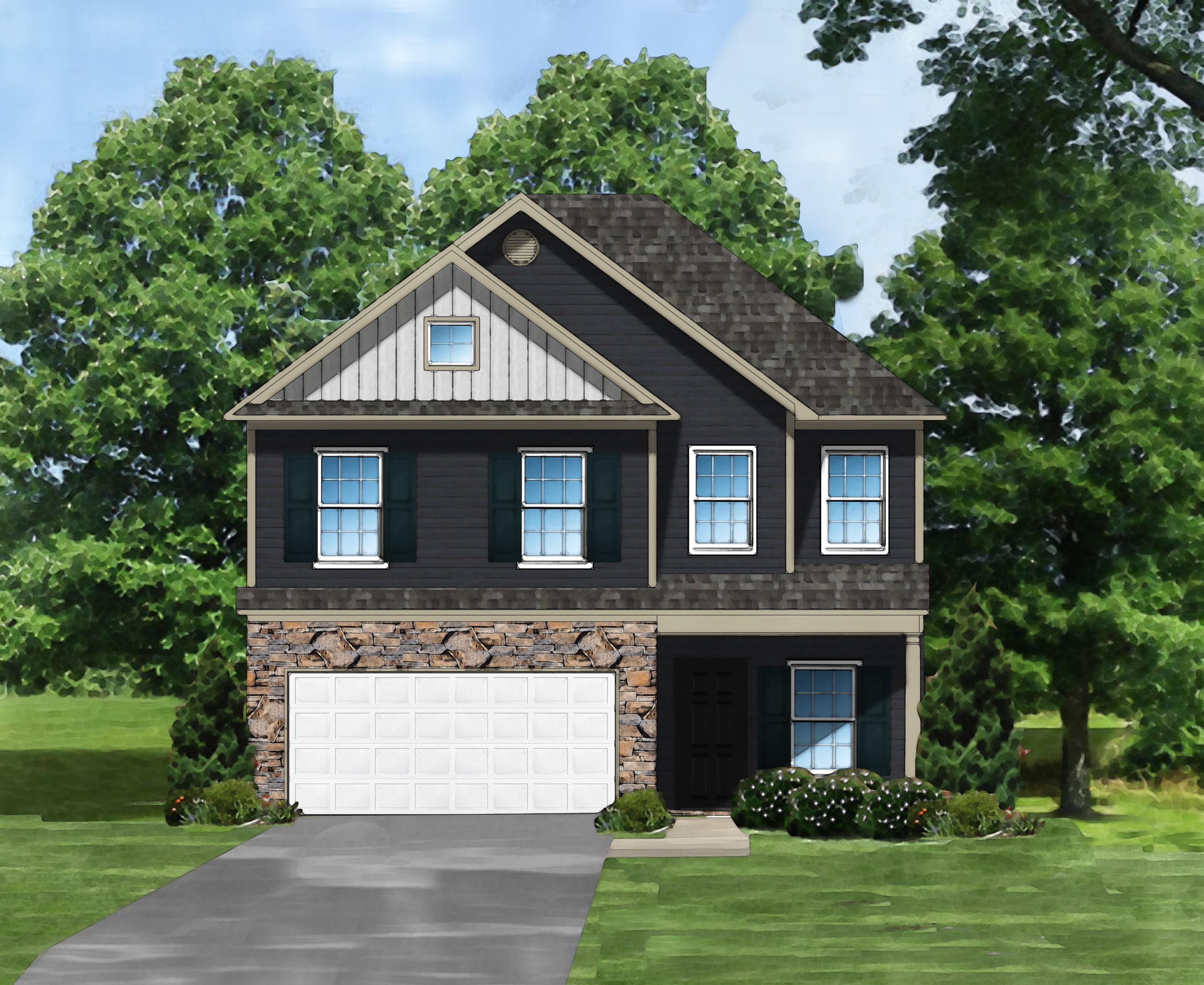 Exterior featured in the McClean A By Great Southern Homes in Greenville-Spartanburg, SC