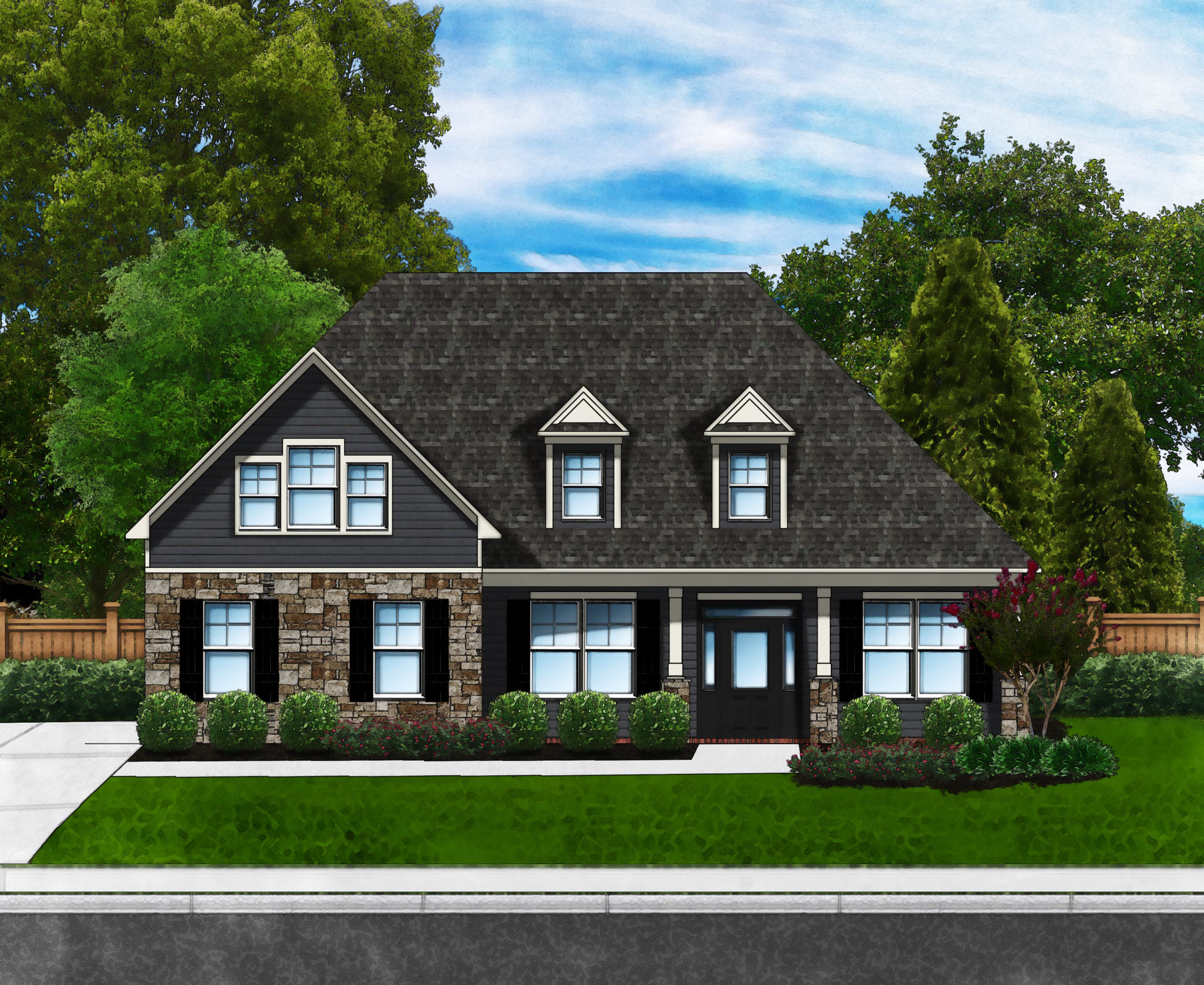 Exterior featured in the Azalea A3 (Brick Sides & Rear) By Great Southern Homes