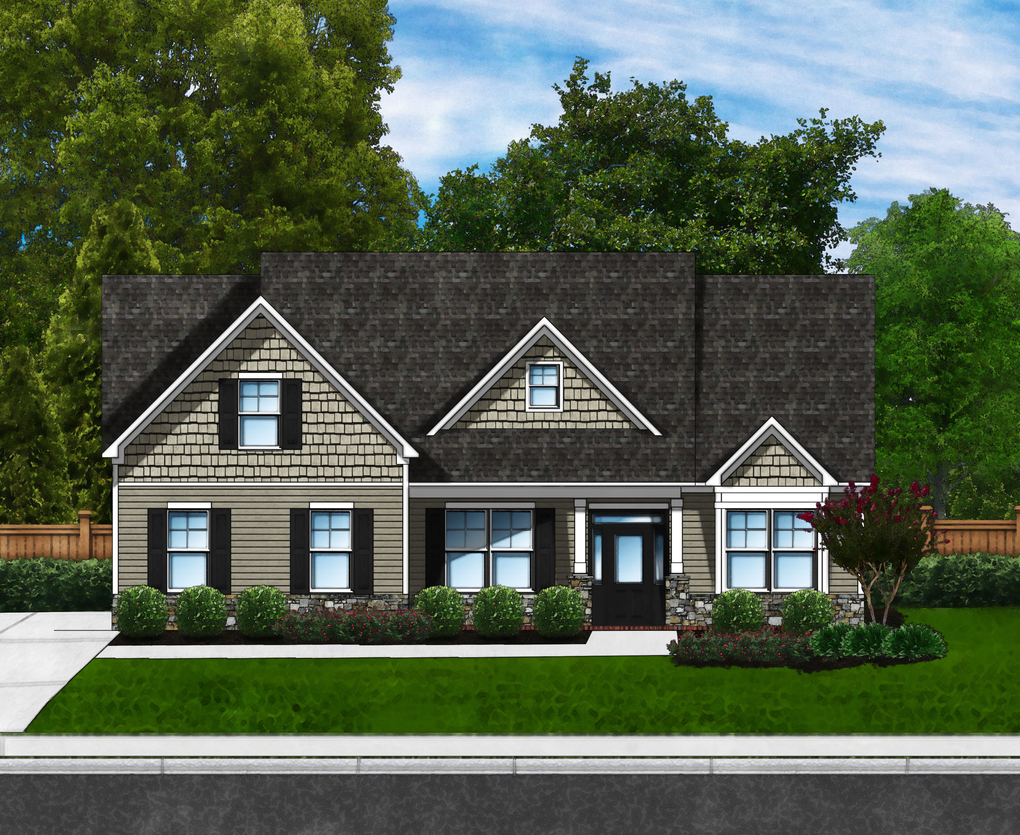 Exterior featured in the Azalea B3 (Brick Sides & Rear) By Great Southern Homes