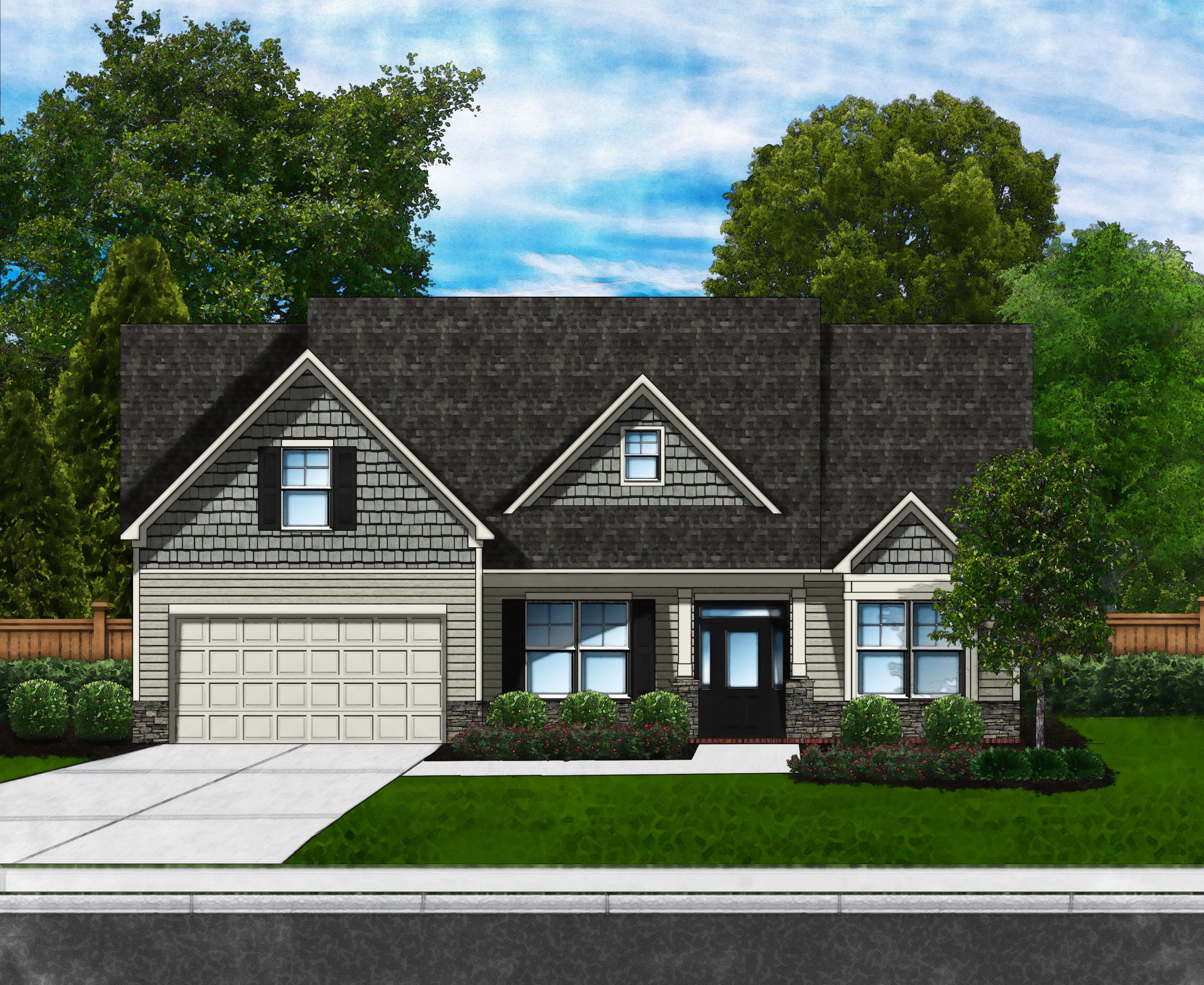 Exterior featured in the Azalea D3 (Brick Sides & Rear) By Great Southern Homes