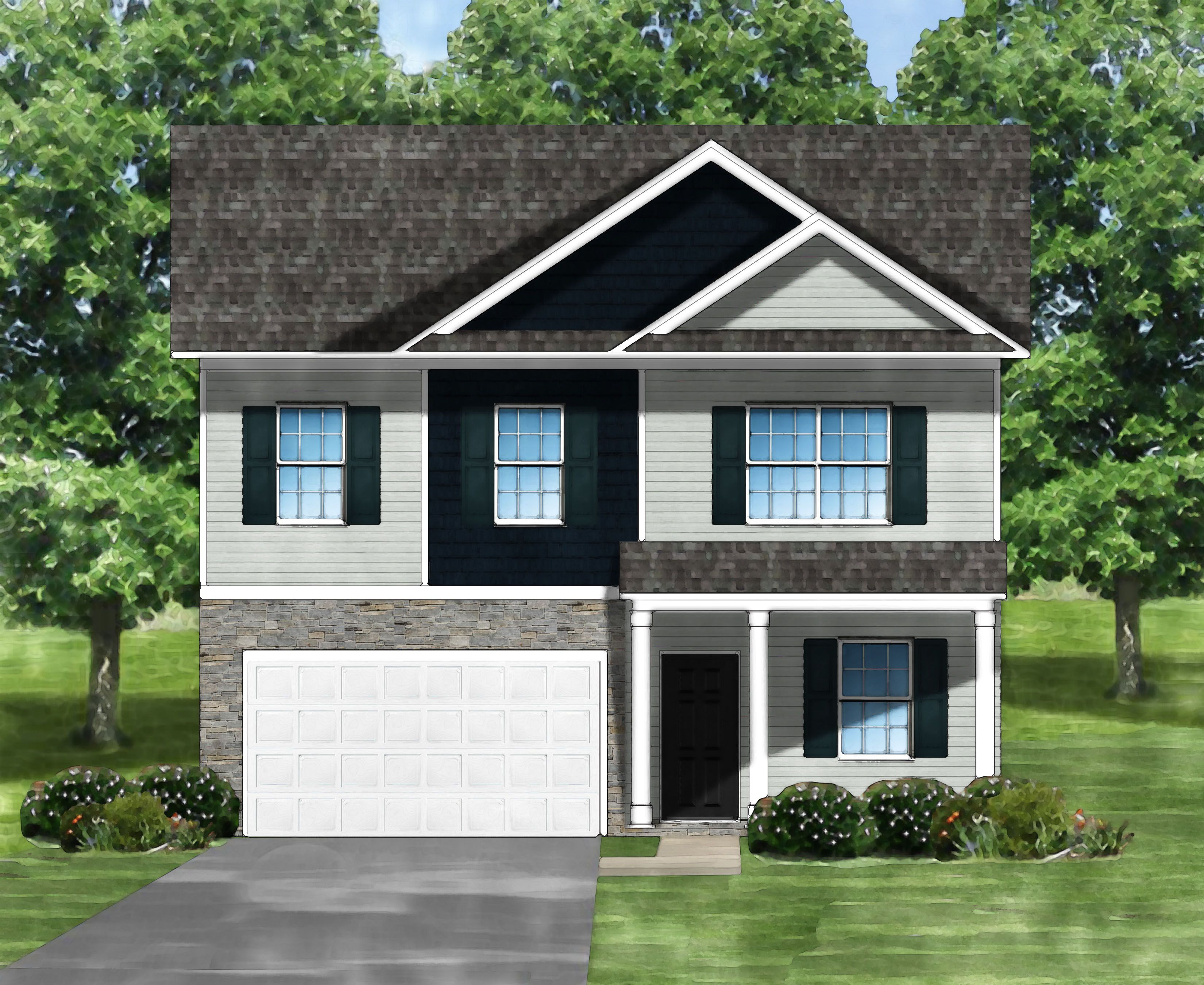 Exterior featured in the Bentcreek C By Great Southern Homes in Greenville-Spartanburg, SC