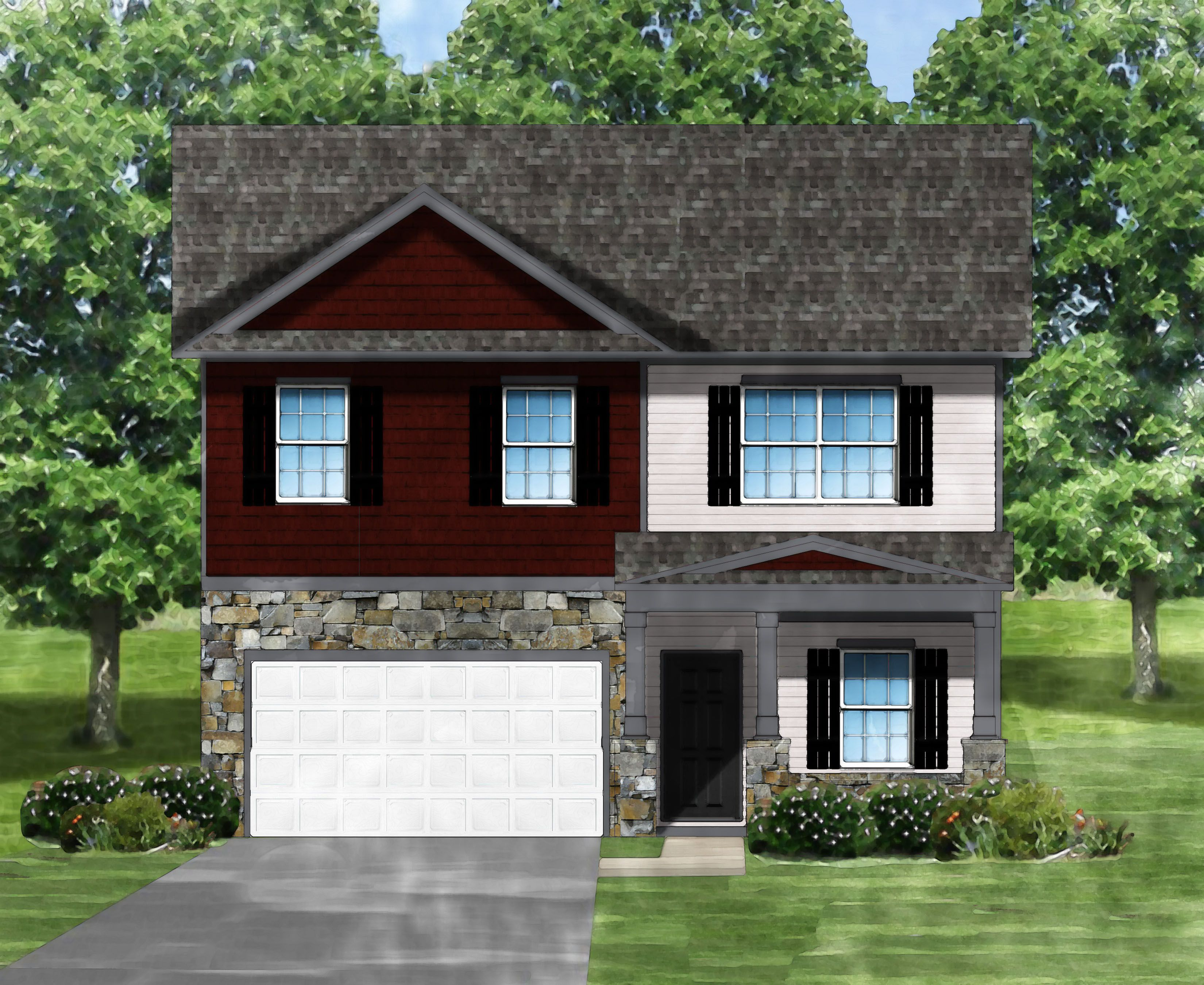 Exterior featured in the Bentcreek D By Great Southern Homes in Greenville-Spartanburg, SC