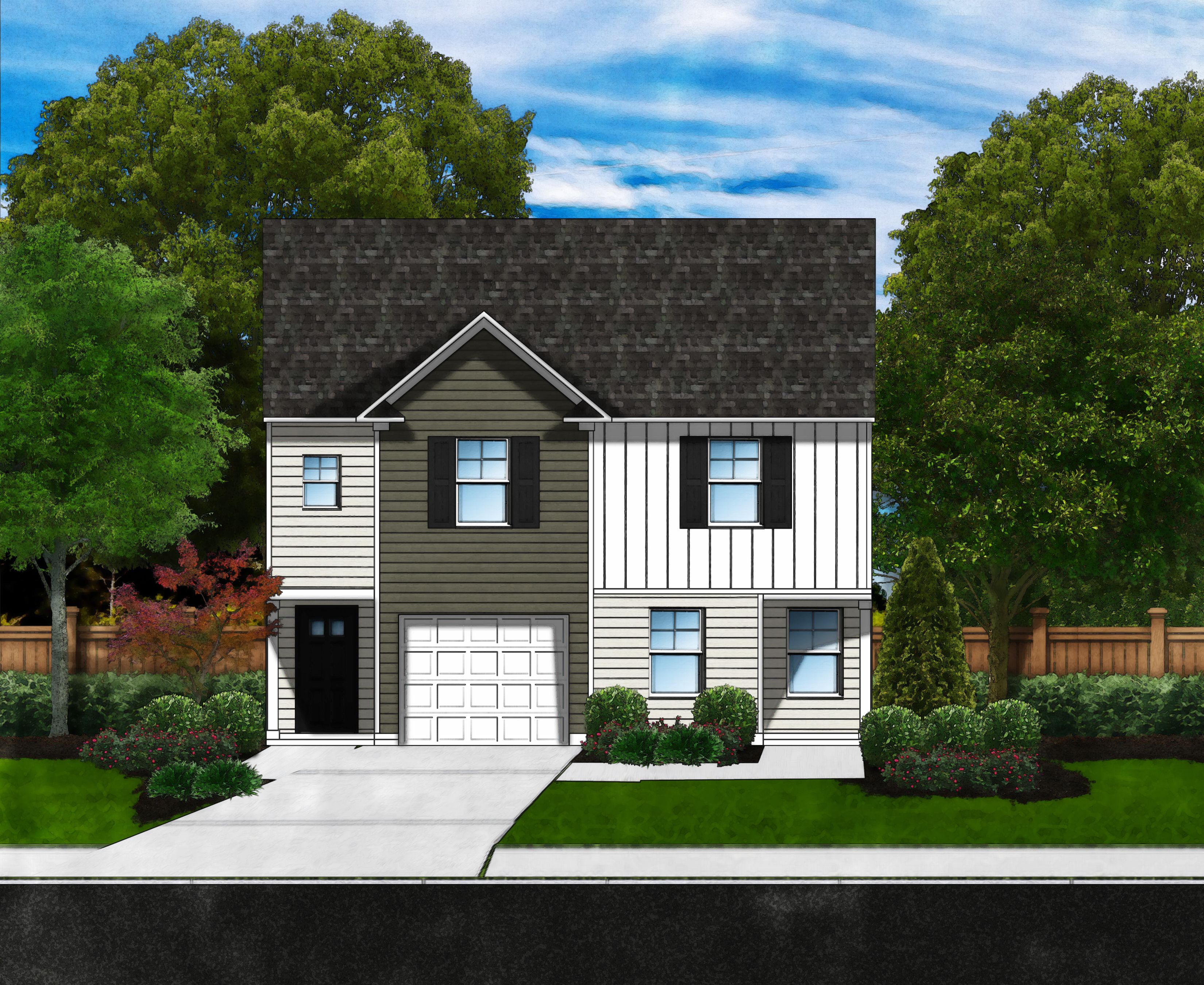 Exterior featured in the Daytona A1 By Great Southern Homes in Greenville-Spartanburg, SC