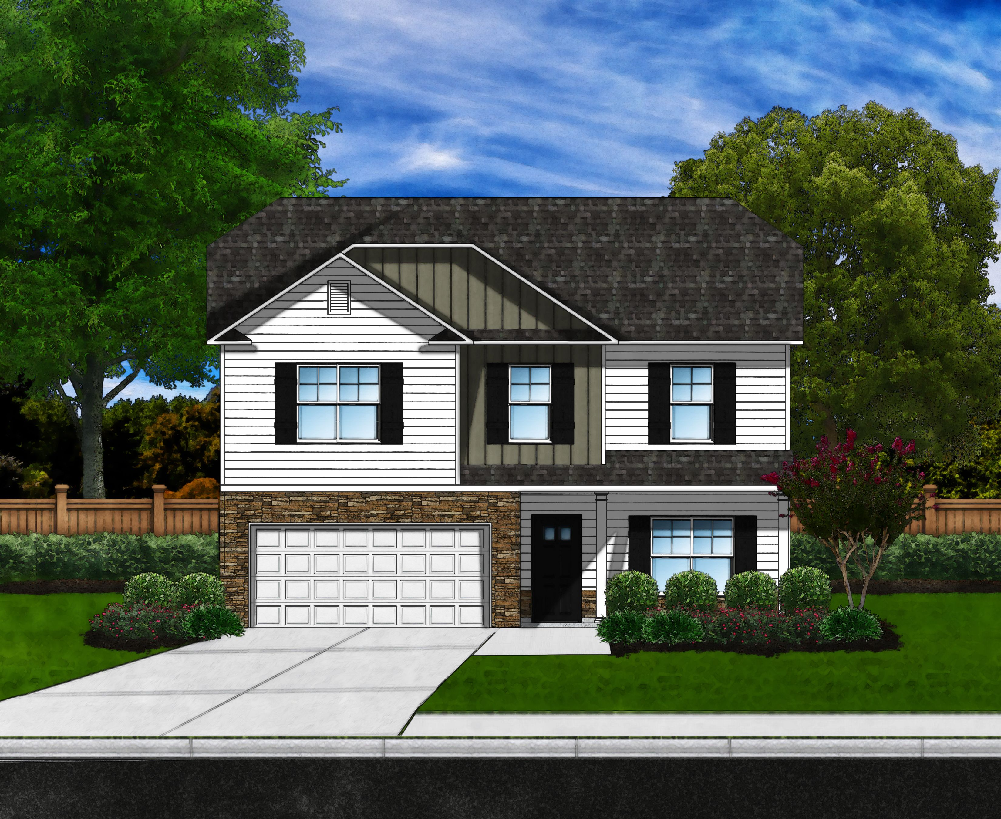 Exterior featured in the Bradley II C By Great Southern Homes in Columbia, SC