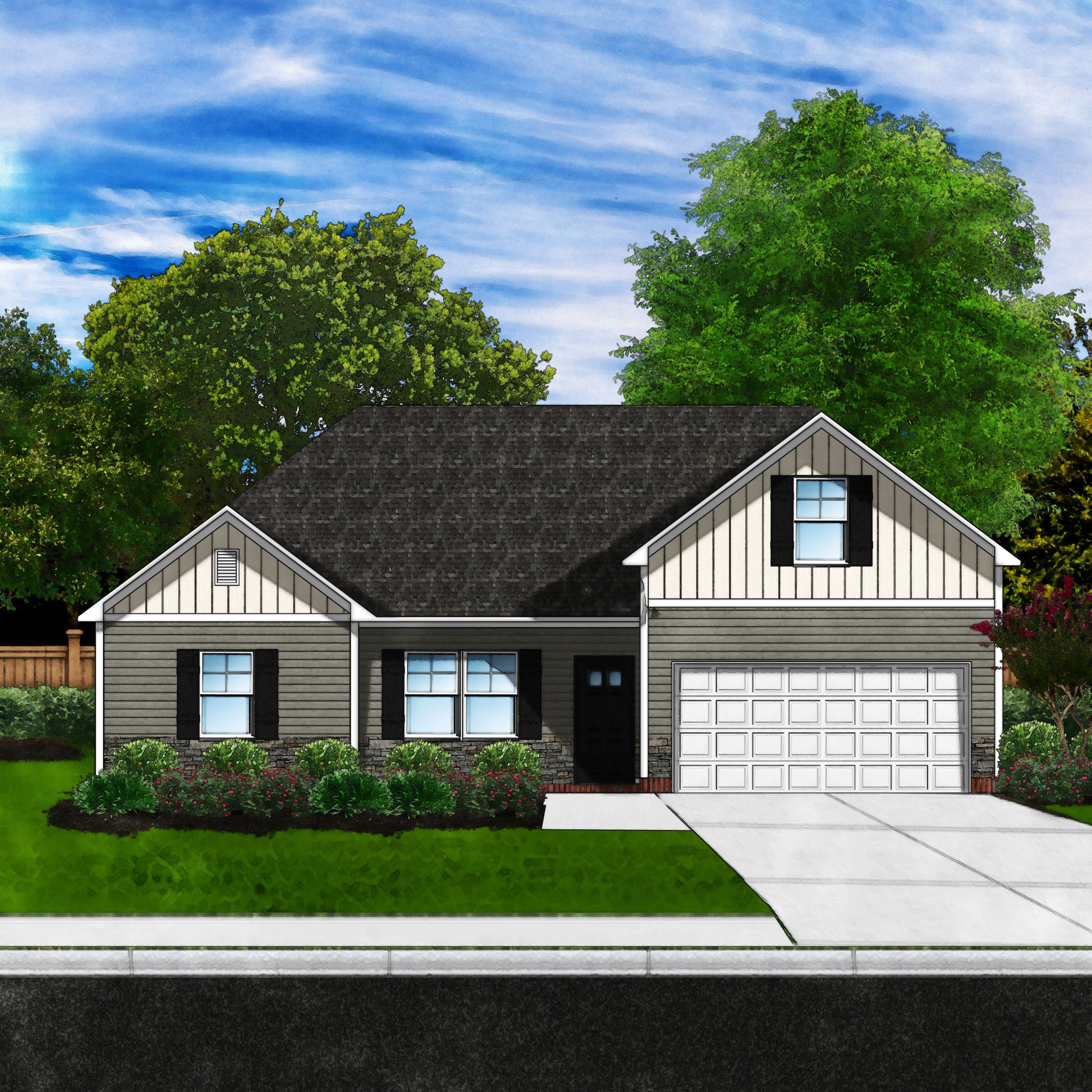 Exterior featured in the Dillon A6 By Great Southern Homes in Greenville-Spartanburg, SC