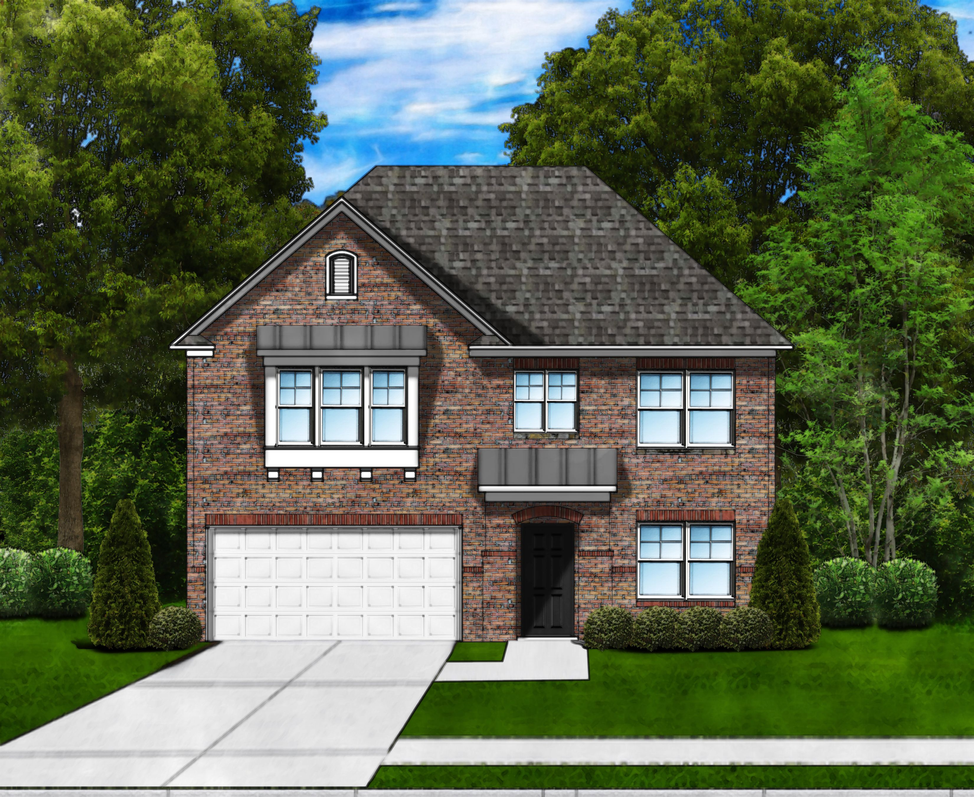 Exterior featured in the Porter C2 (Brick Front) By Great Southern Homes in Florence, SC