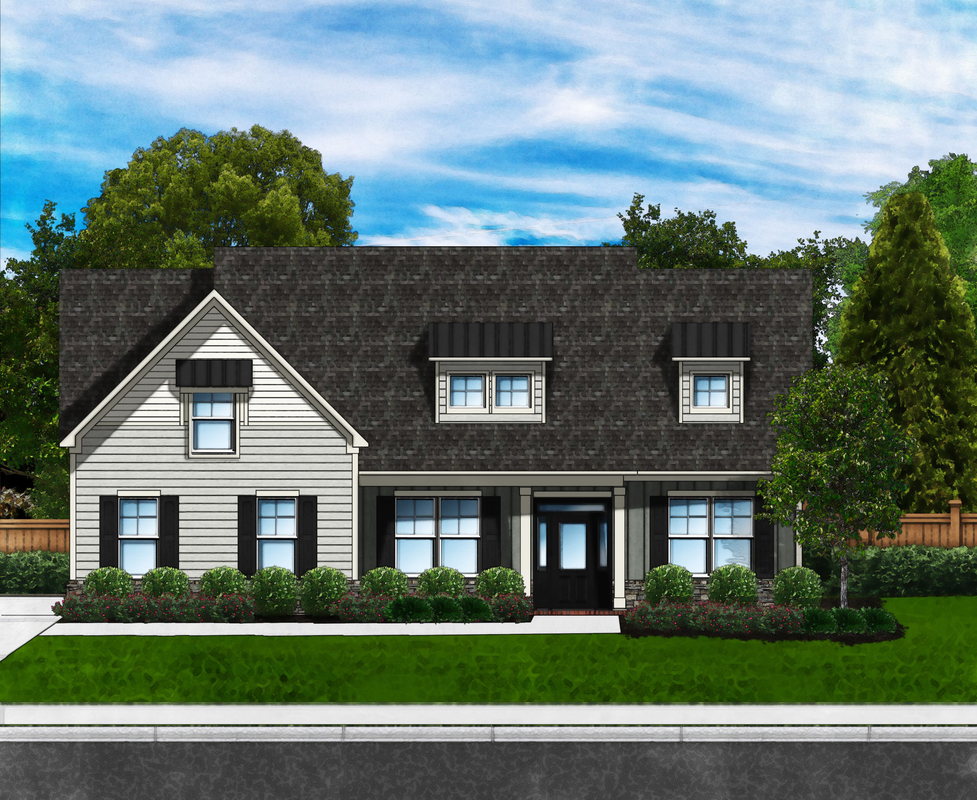 Exterior featured in the Azalea H By Great Southern Homes in Greenville-Spartanburg, SC