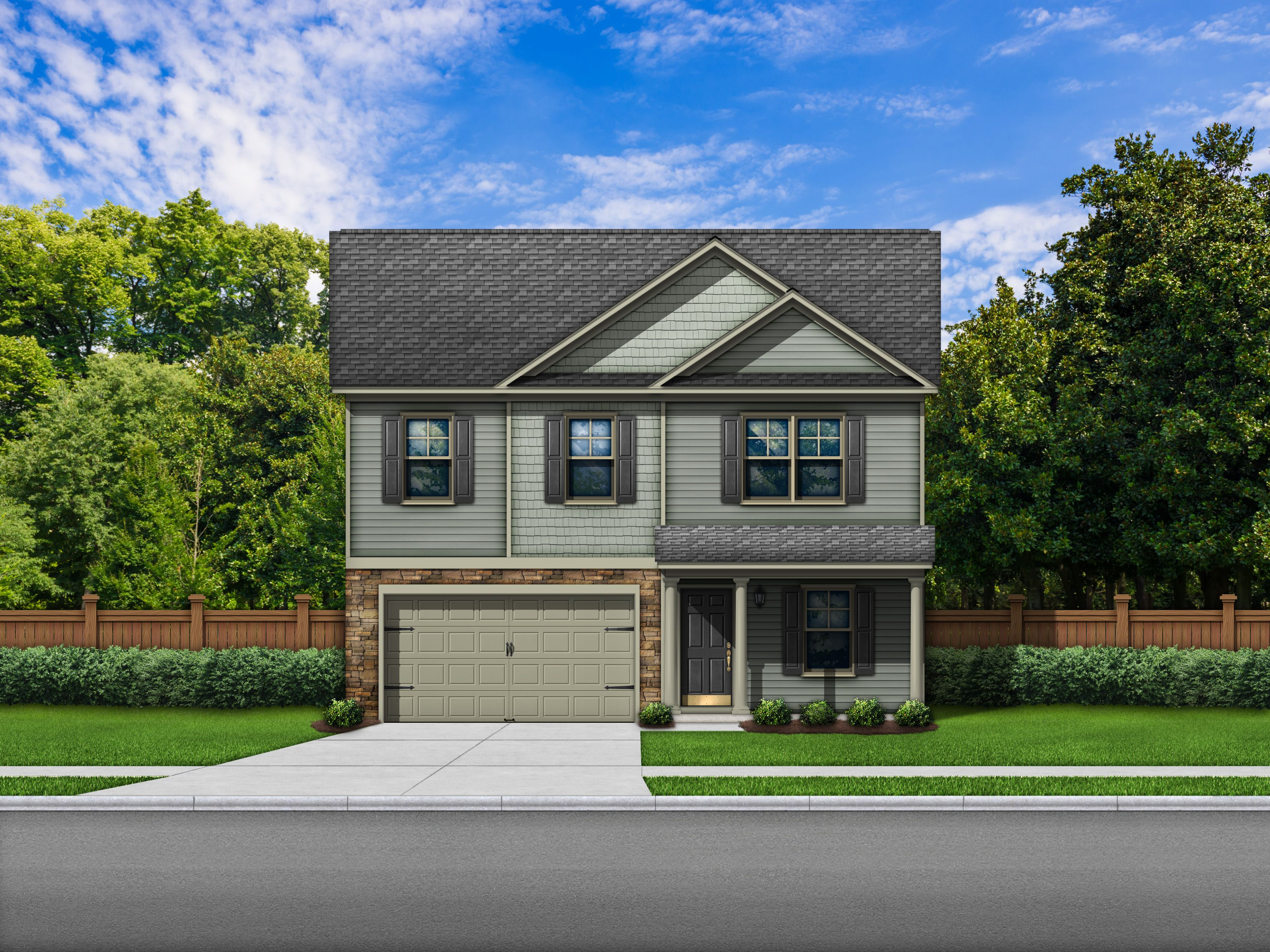 Exterior featured in the Bentgrass C By Great Southern Homes in Sumter, SC