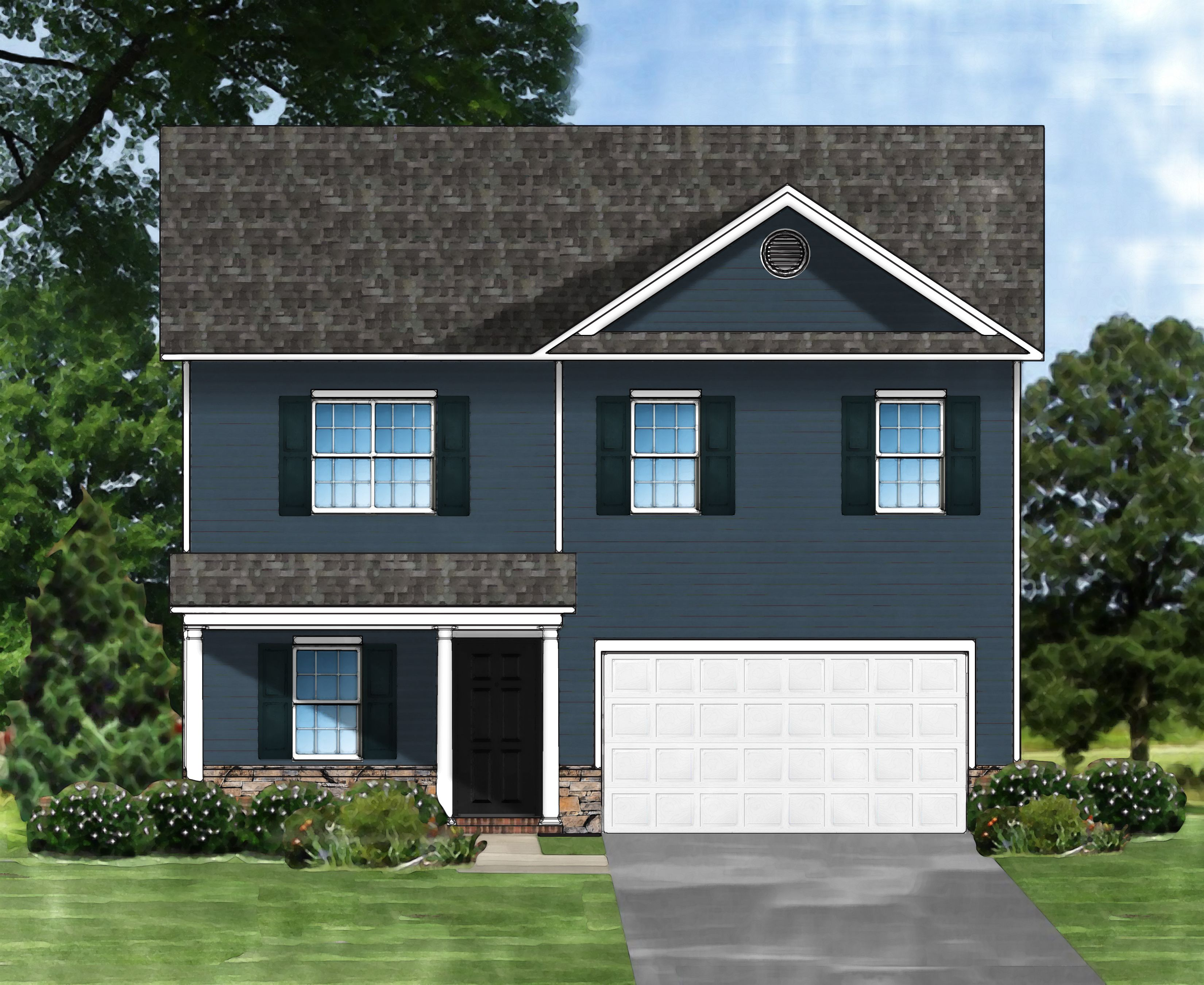 Exterior featured in the Bentgrass A By Great Southern Homes in Sumter, SC