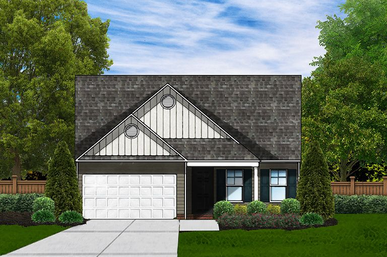 Exterior featured in the Buckley B By Great Southern Homes in Sumter, SC