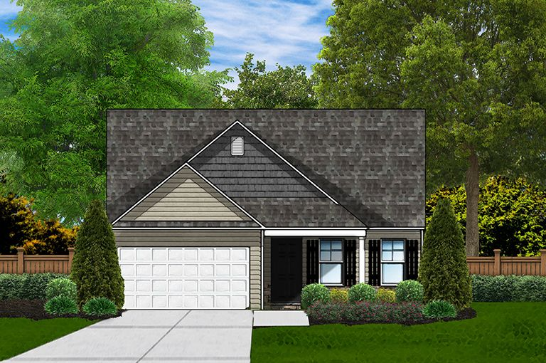 Exterior featured in the Buckley C By Great Southern Homes in Sumter, SC