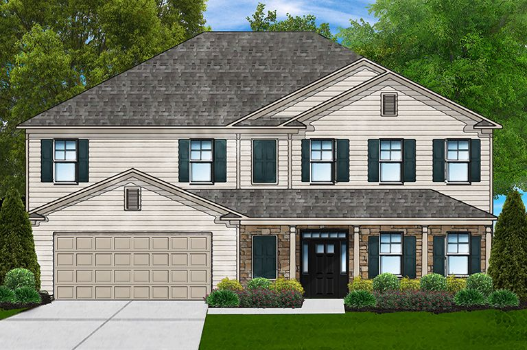 Exterior featured in the Beaujolais B By Great Southern Homes in Sumter, SC