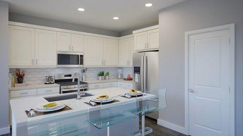 Kitchen-in-Plan 1-at-Greenleaf Townhomes-in-Garden Grove