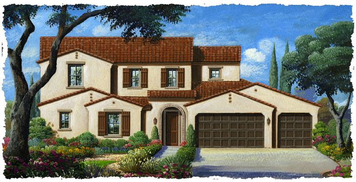 Rendering:Elevation 2A - Spanish