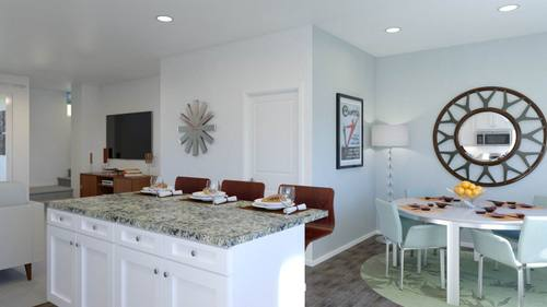 Greatroom-and-Dining-in-Plan 1-at-Boardwalk Townhomes-in-Corona