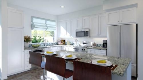 Kitchen-in-Plan 1-at-Boardwalk Townhomes-in-Corona