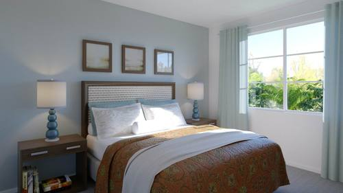Bedroom-in-Plan 1-at-Boardwalk Townhomes-in-Corona
