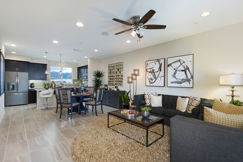 Greatroom-and-Dining-in-Plan 2-at-Boardwalk Townhomes-in-Corona