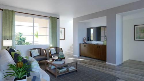 Greatroom-in-Plan Two - B-at-Boardwalk Townhomes-in-Corona
