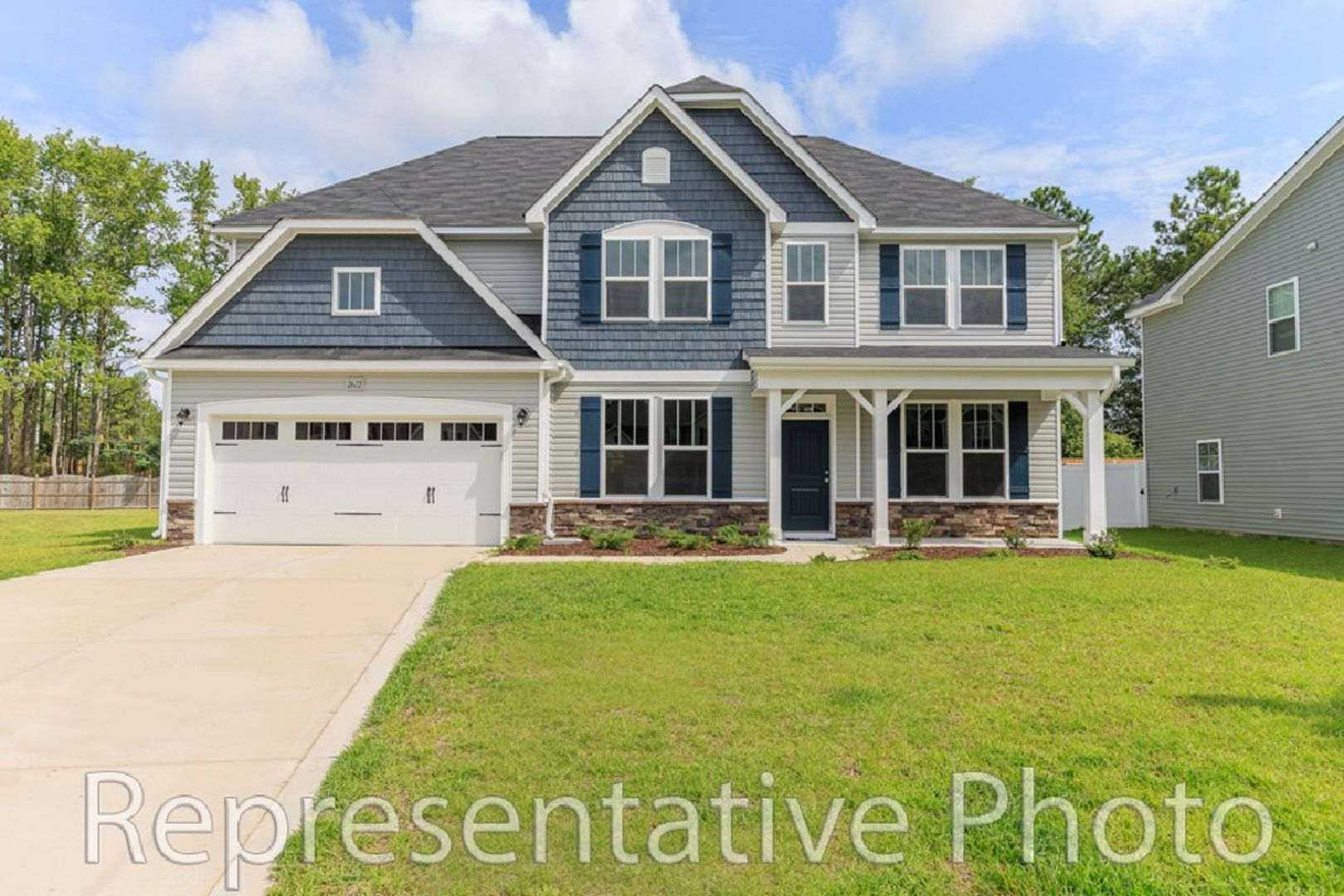 Exterior featured in the Wilmington 2865 By HH Homes in Raleigh-Durham-Chapel Hill, NC