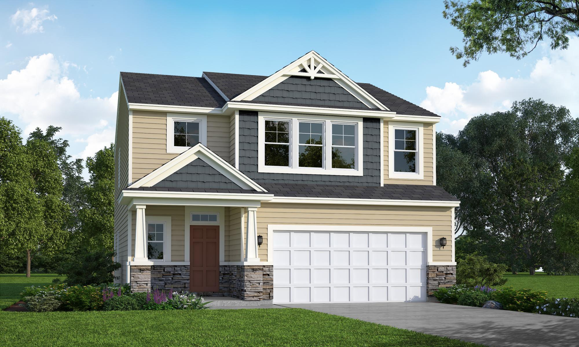 Exterior featured in the Kenzie By HH Homes in Fayetteville, NC