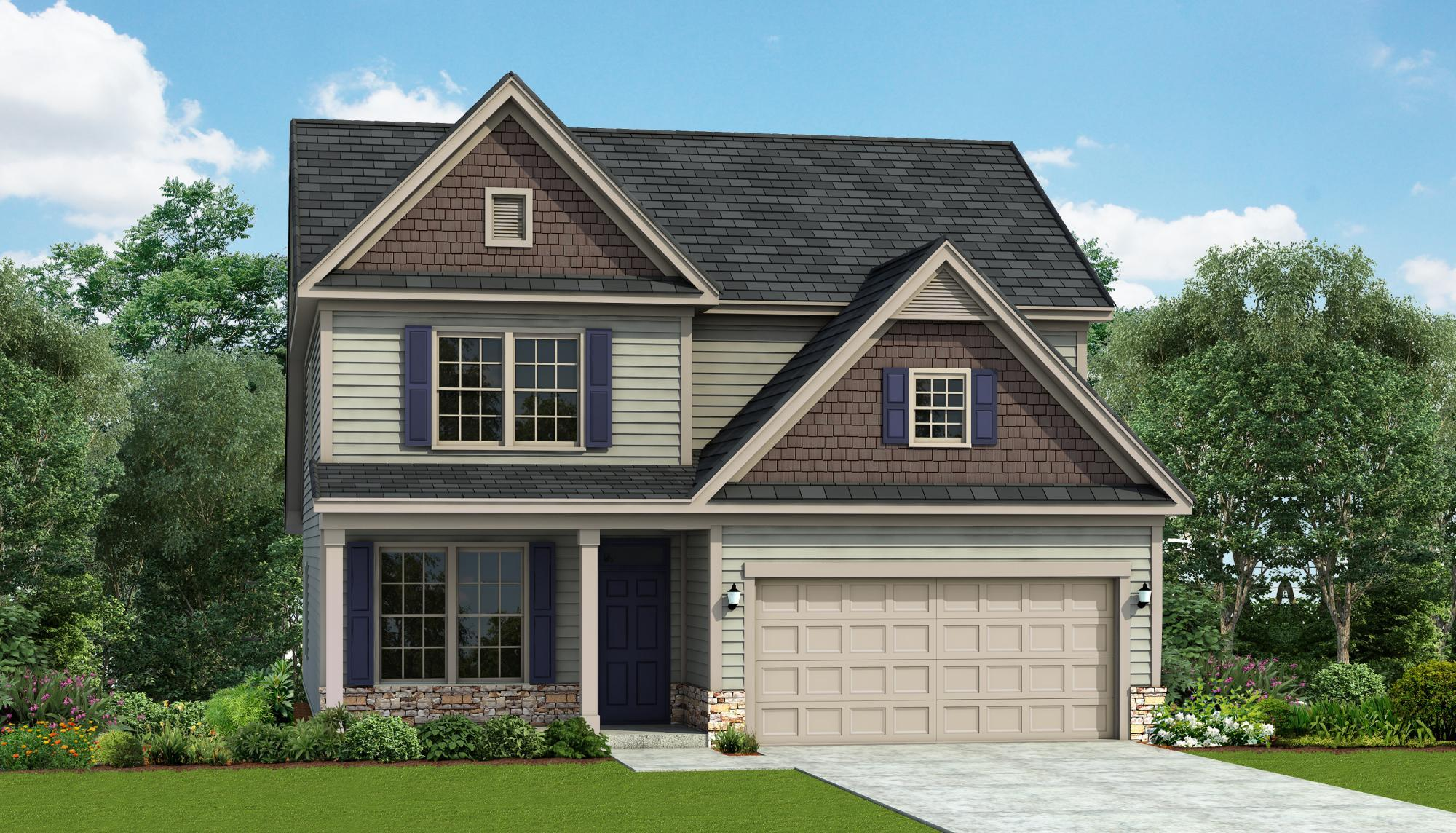 Exterior featured in the Jordan By HH Homes in Fayetteville, NC