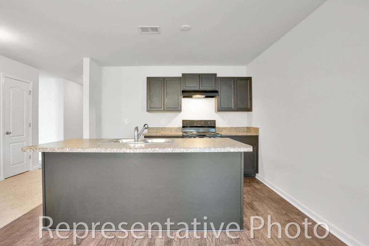 Kitchen featured in the Efficient By HH Homes in Wilmington, NC