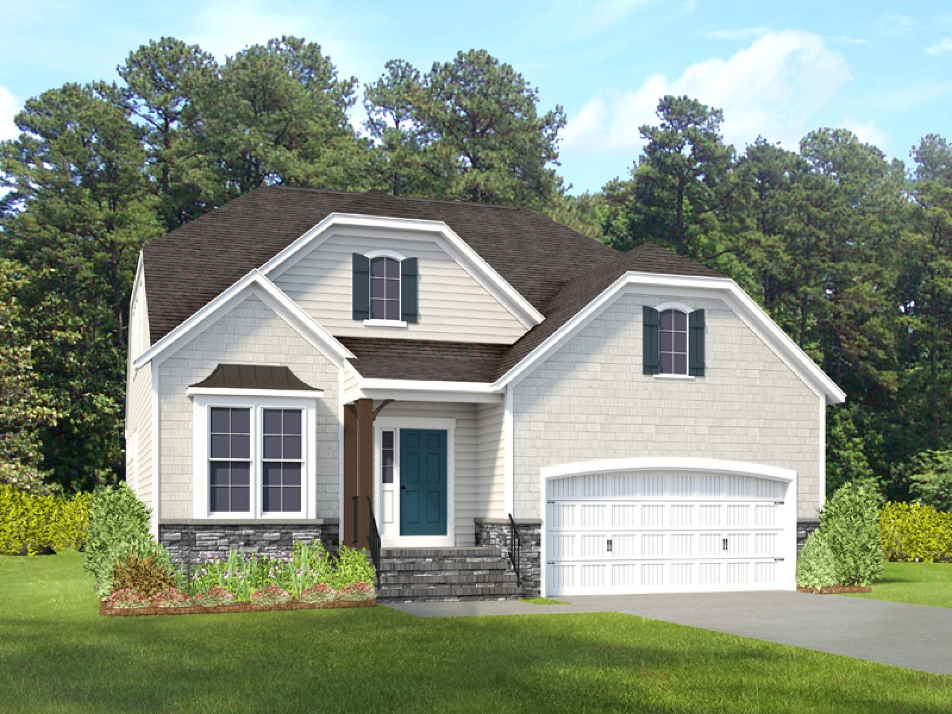 Exterior featured in the Kelsey By HHHunt Homes LLC in Richmond-Petersburg, VA