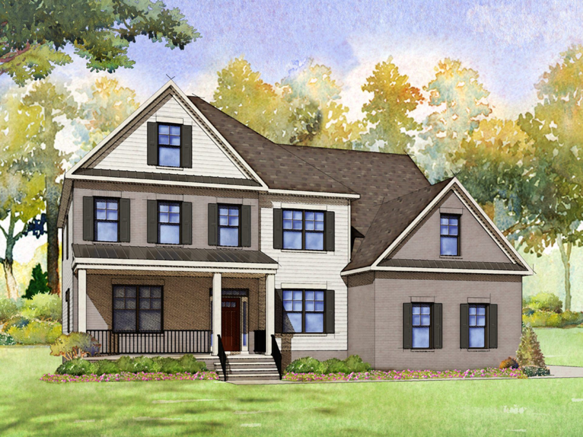 Exterior featured in the Dawson By HHHunt Homes LLC in Raleigh-Durham-Chapel Hill, NC