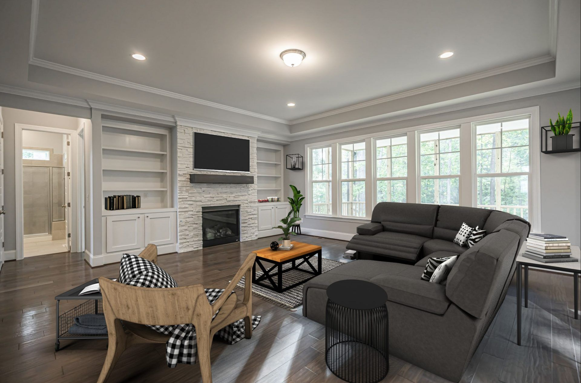 Living Area featured in the Dawson By HHHunt Homes LLC in Raleigh-Durham-Chapel Hill, NC