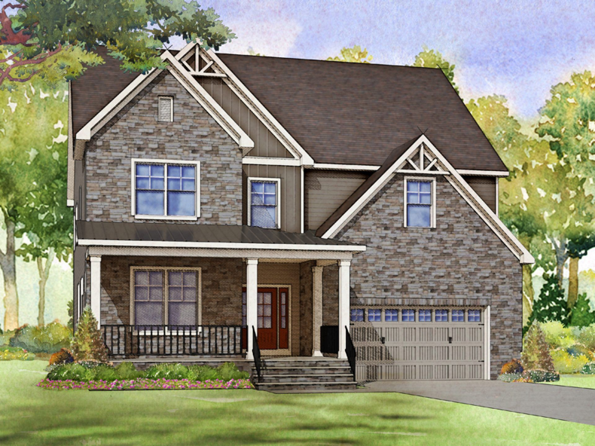 Exterior featured in the Latham By HHHunt Homes LLC in Raleigh-Durham-Chapel Hill, NC