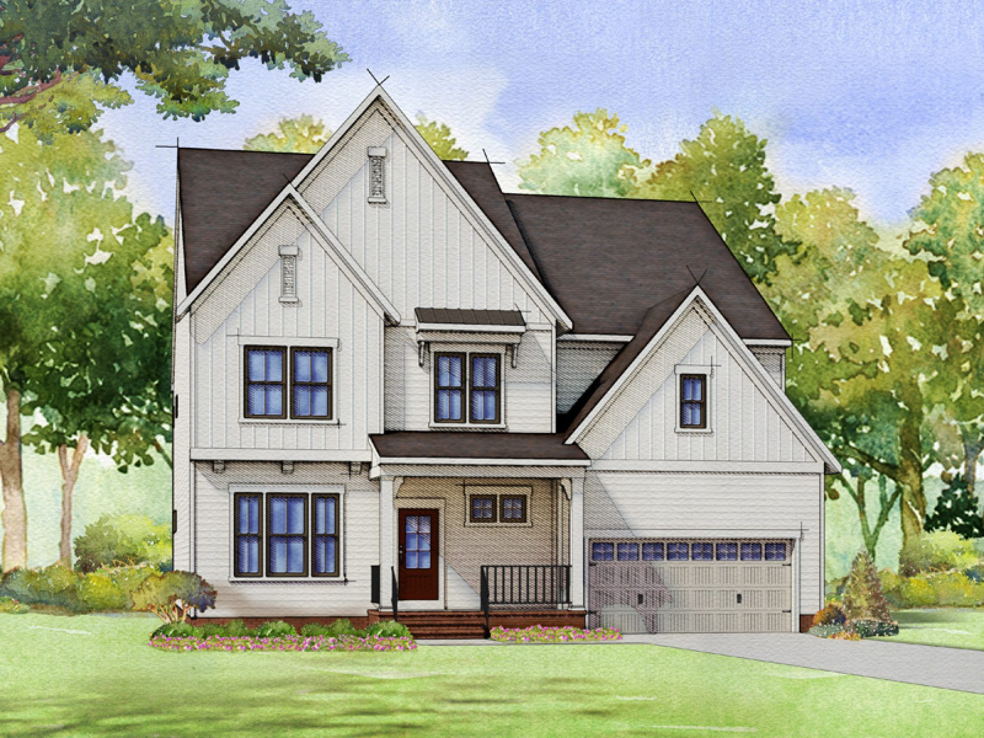 Exterior featured in the Bedford By HHHunt Homes LLC in Raleigh-Durham-Chapel Hill, NC