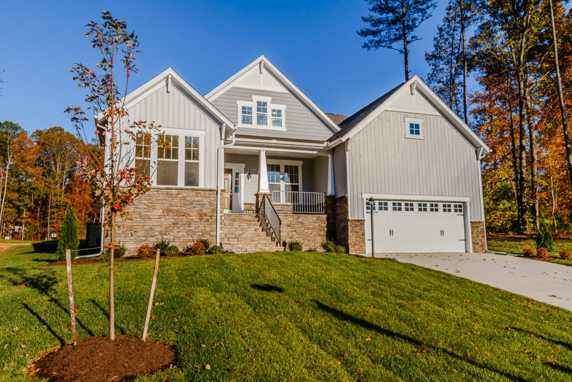 Exterior featured in the Lexington By HHHunt Homes LLC in Richmond-Petersburg, VA