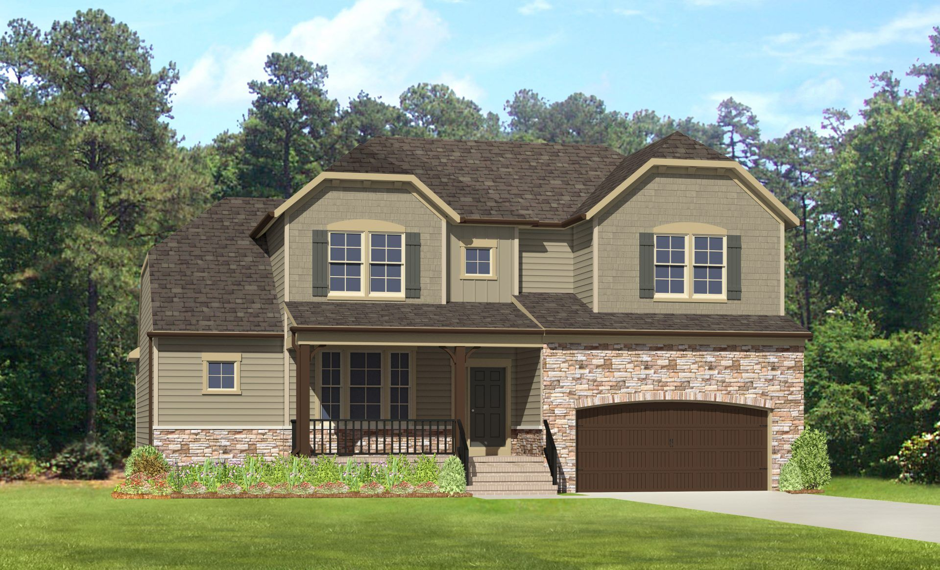 Exterior featured in the Bradenton By HHHunt Homes LLC in Richmond-Petersburg, VA