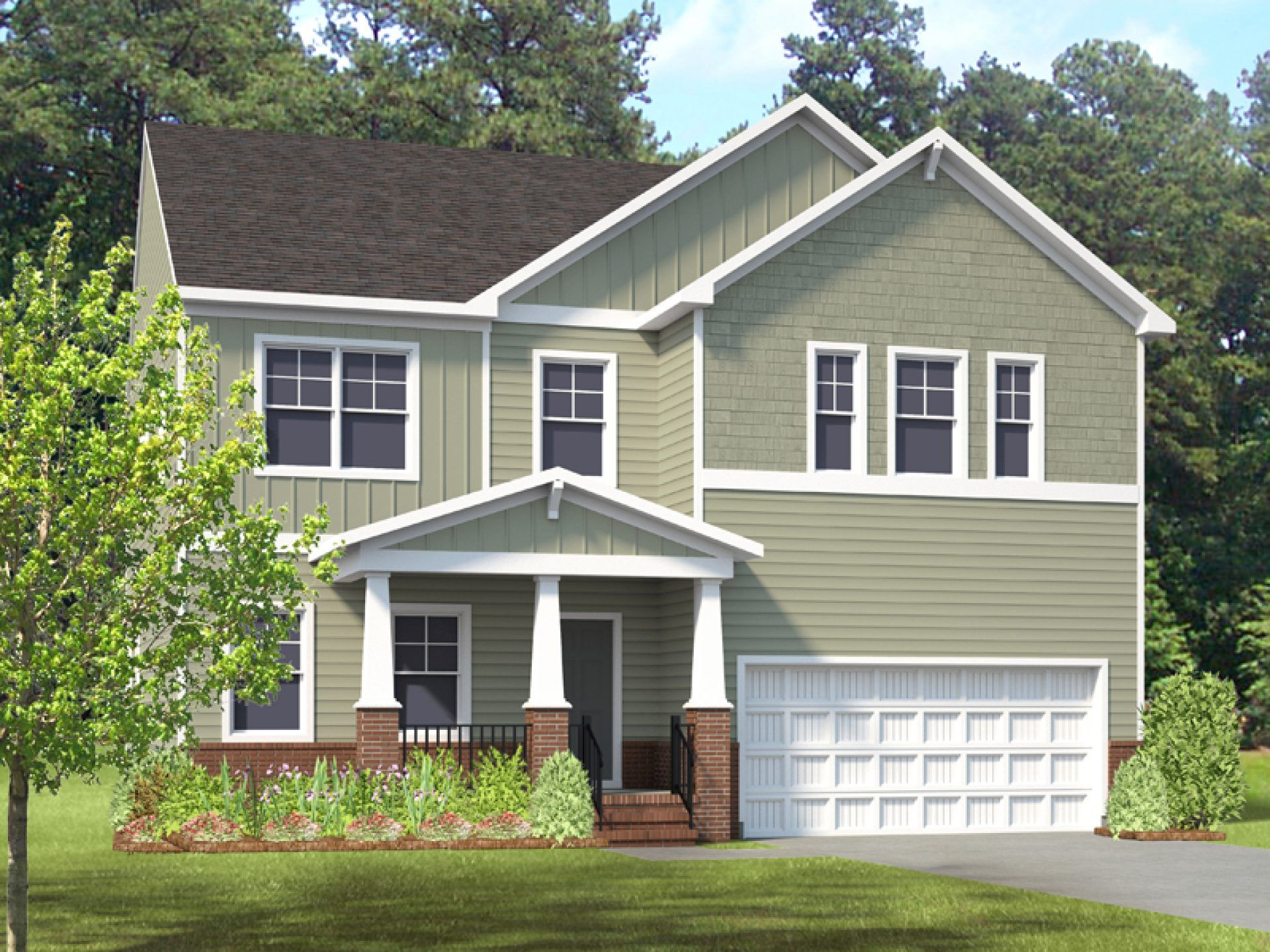 Exterior featured in the Curie By HHHunt Homes LLC in Richmond-Petersburg, VA