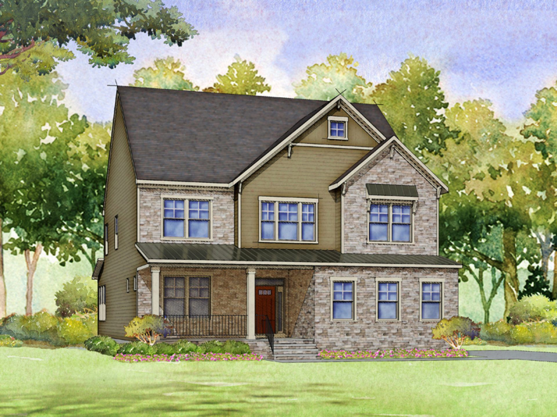 Exterior featured in the Mason By HHHunt Homes LLC in Raleigh-Durham-Chapel Hill, NC