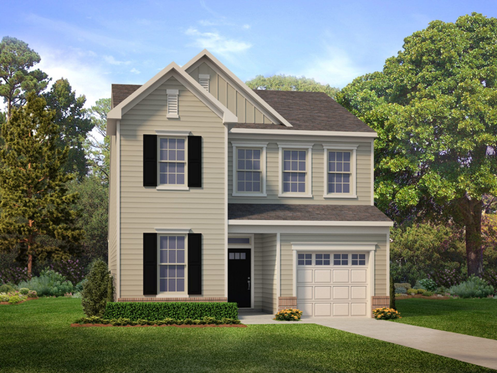 Exterior featured in the Mystic By HHHunt Homes LLC in Raleigh-Durham-Chapel Hill, NC