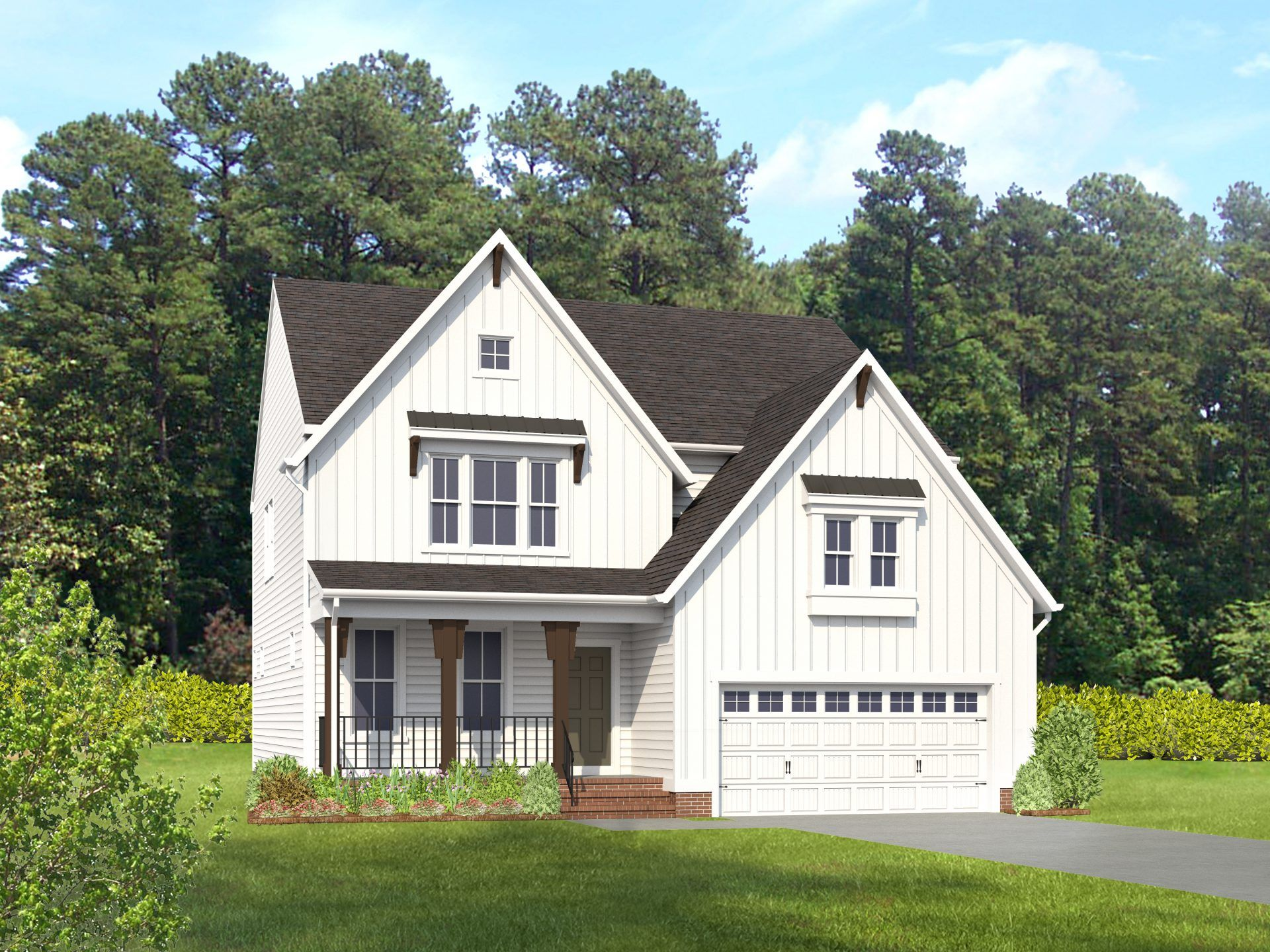 Exterior featured in the Chatham By HHHunt Homes LLC in Richmond-Petersburg, VA