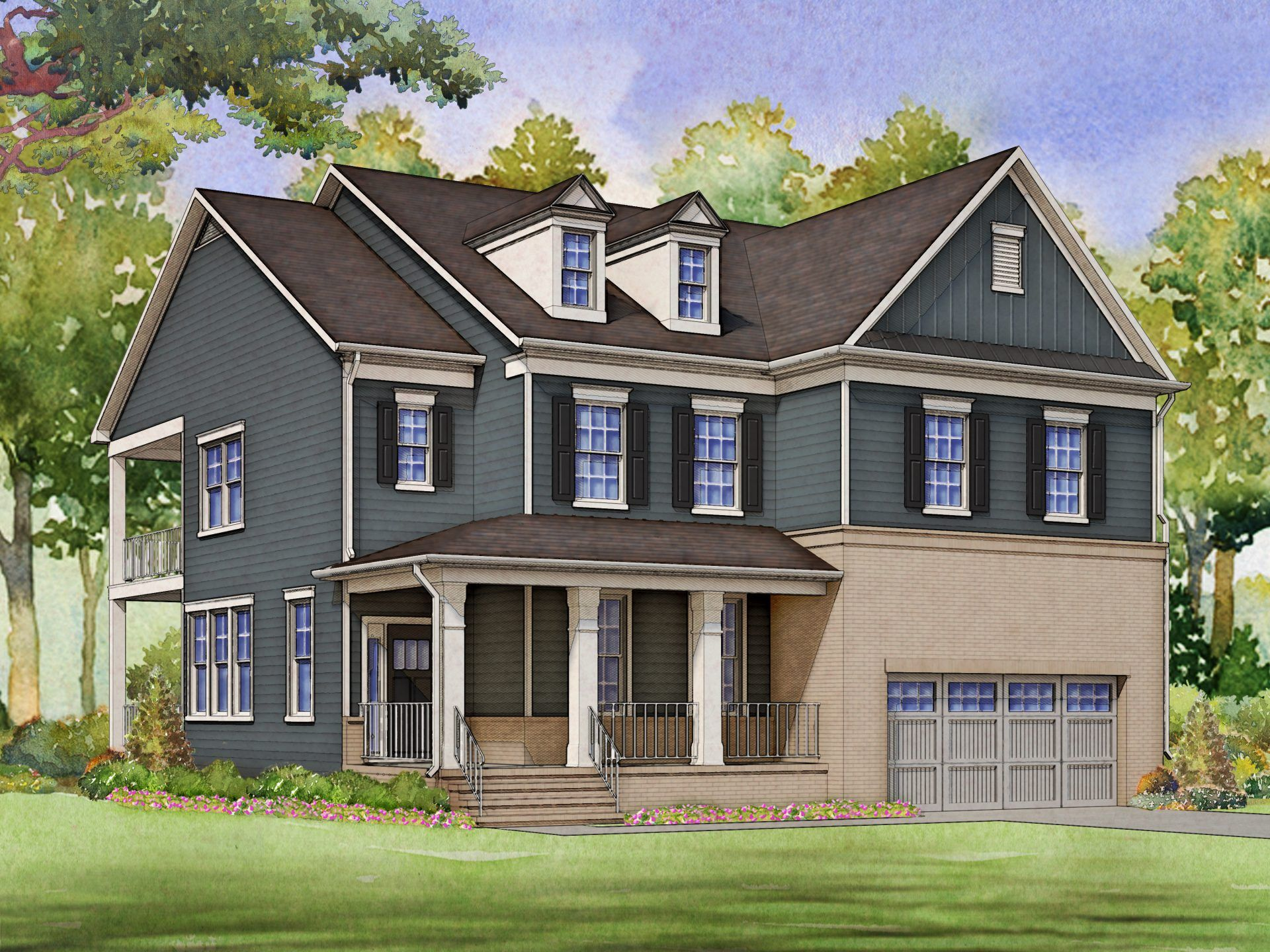 Exterior featured in the Fleetwood By HHHunt Homes LLC in Raleigh-Durham-Chapel Hill, NC