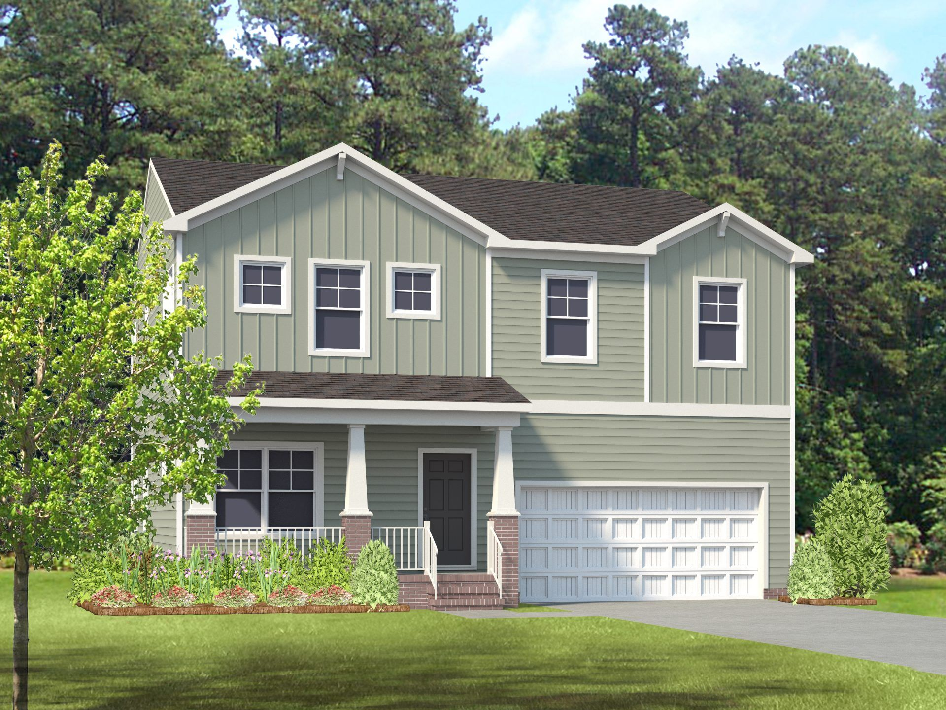 Exterior featured in the Edison By HHHunt Homes LLC in Raleigh-Durham-Chapel Hill, NC