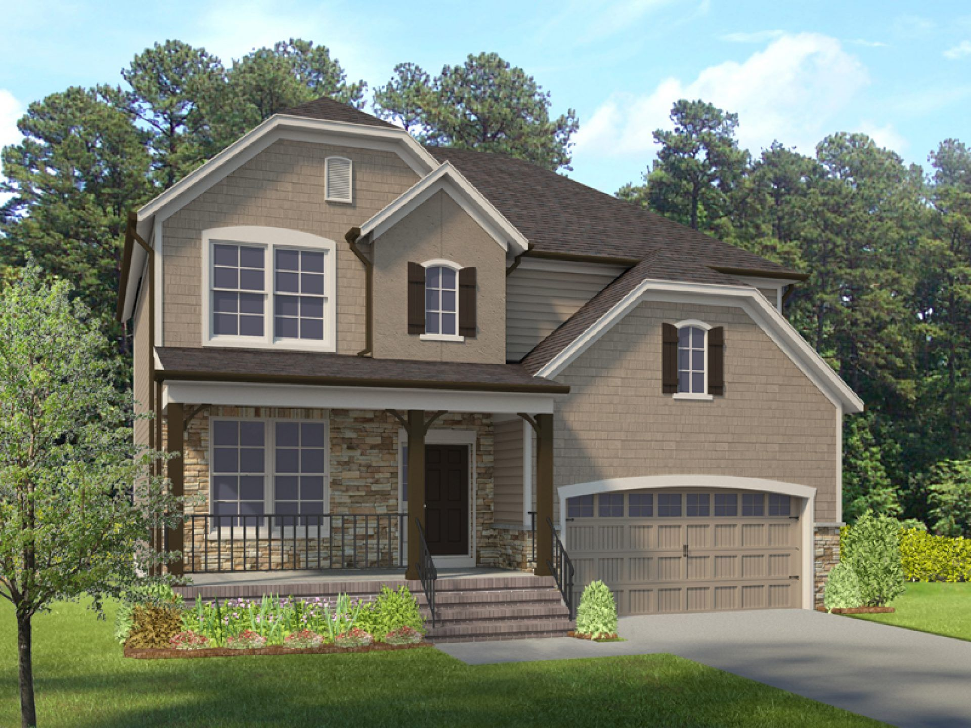 Exterior featured in the Franklin By HHHunt Homes in Richmond-Petersburg, VA