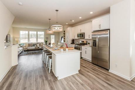 Kitchen-in-Carmichael-at-White Hall Townhomes-in-Toano