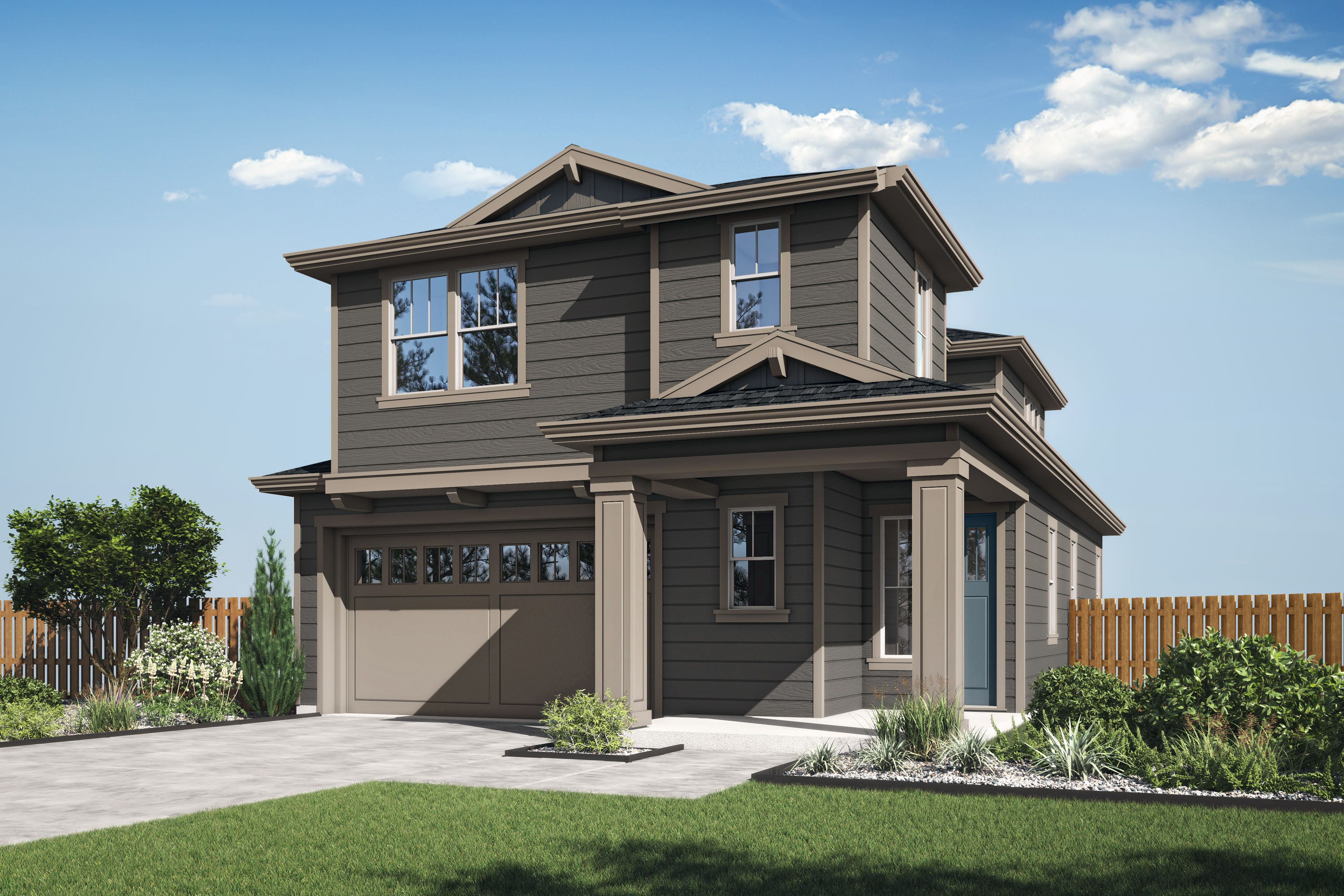 Exterior featured in the Plan 5E By The Gardens in Santa Rosa, CA