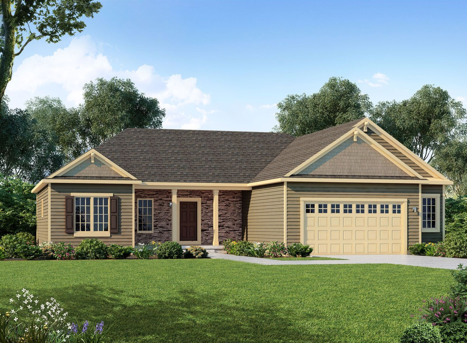 Exterior featured in The Amherst By Halen Homes in Milwaukee-Waukesha, WI
