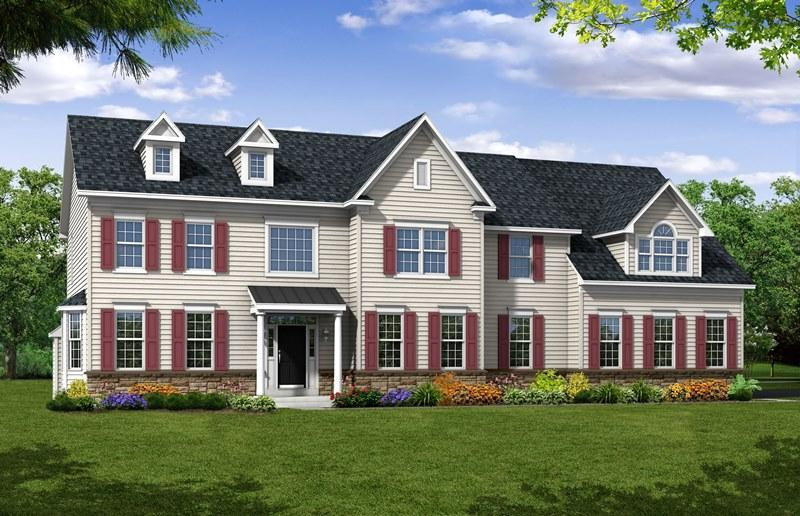 Exterior featured in The Greenbrier By Hallmark Homes Group in Philadelphia, PA