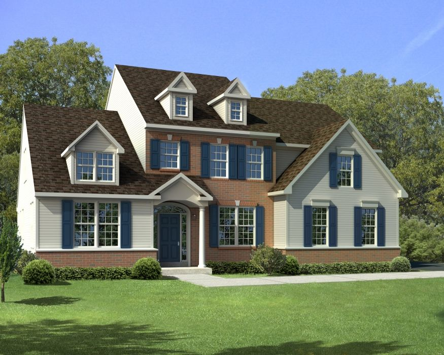 Exterior featured in The Harrison-Side Entry By Hallmark Homes Group in Philadelphia, PA