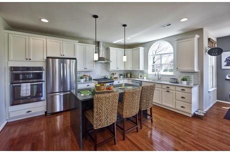 Kitchen-in-The Roosevelt-Front Entry-at-The Arbors at Hilltown-in-Dallas