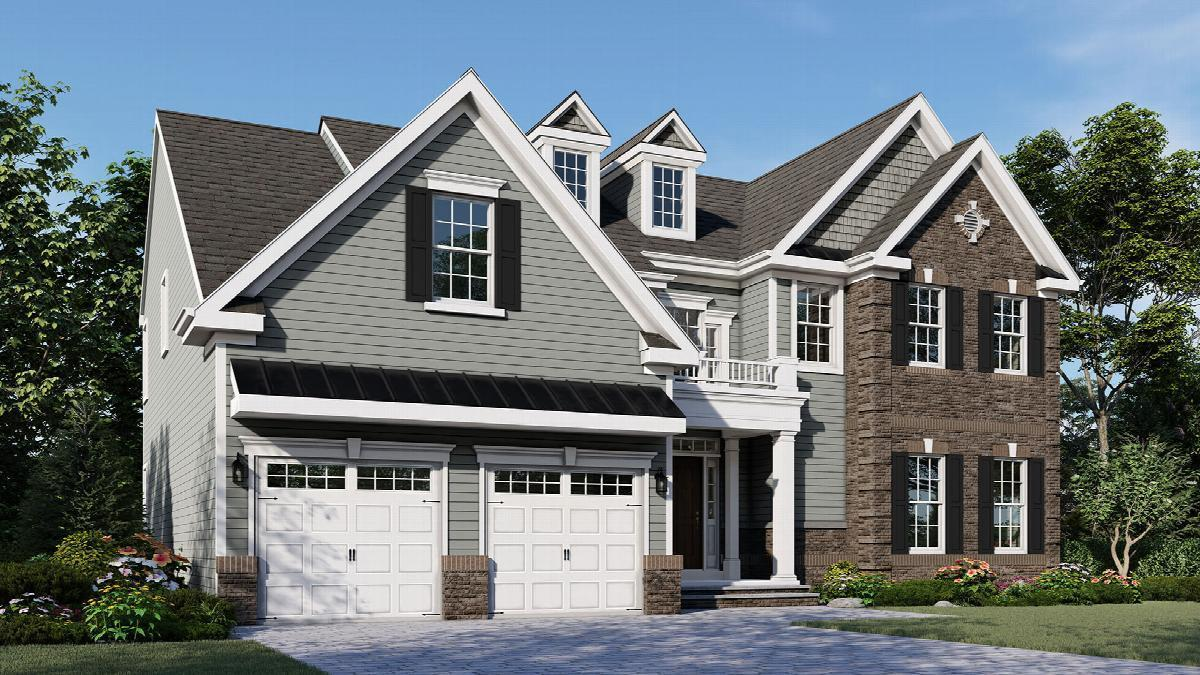 Exterior featured in The Jasmin By Hallmark Homes in Middlesex County, NJ
