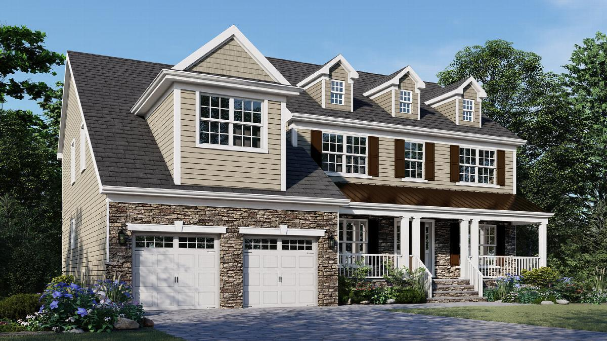 Exterior featured in The Lotus By Hallmark Homes in Middlesex County, NJ