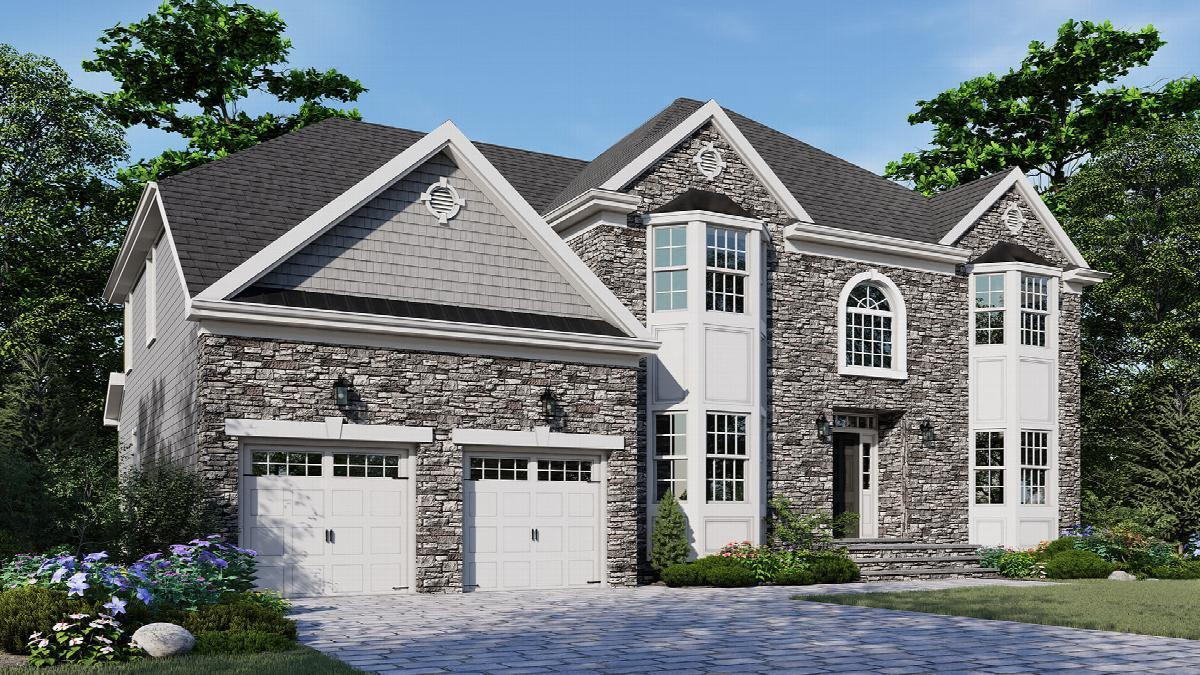Exterior featured in The Platinum II By Hallmark Homes in Middlesex County, NJ